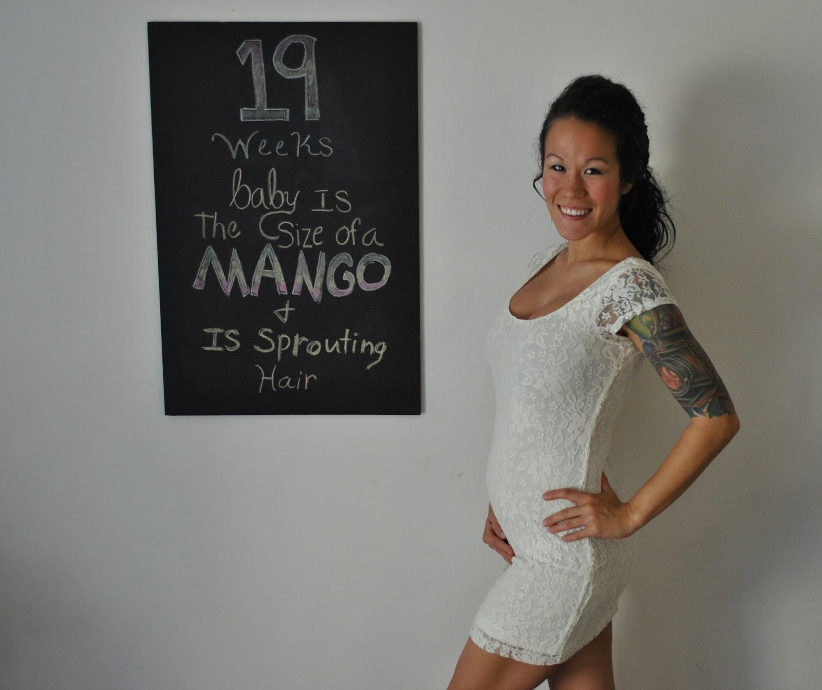 19 Weeks Pregnancy Chalkboard Update