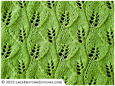 10 Overlapping Leaves Lace Knitting Stitches