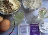 Ingredientes de las Galletas de harina de maíz y castañas al limoncello