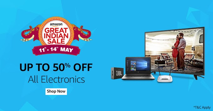 Amazon Great Indian Sale 12 May 2017 Top 200 Deals - Up to 99% OFF