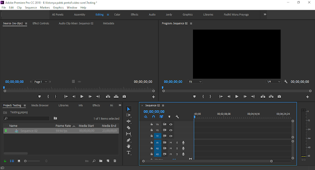 Tutorial Setting Up Project & Sequence File Kerja Adobe Premiere Pro