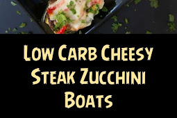 Low Carb Cheesy Steak Zucchini Boats