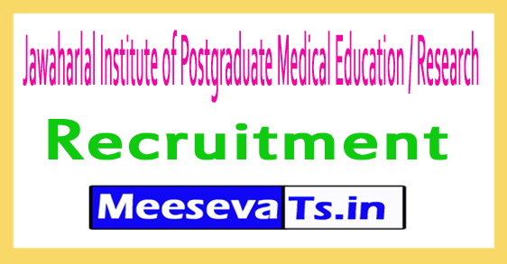 Jawaharlal Institute of Postgraduate Medical Education / Research JIPMER Recruitment