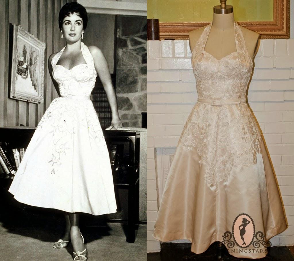 Morningstar Pinup: Elizabeth Taylor-White Halter Dress