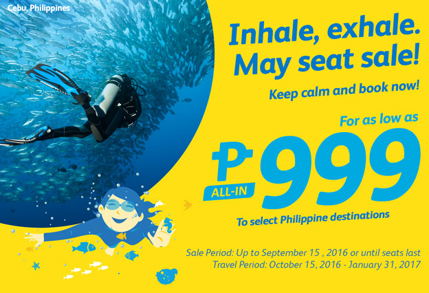 Cebu Pacific 999 Seat Sale Promo 2017