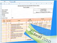 Download RKAS Sesuai Junkis BOS Format Excel  2018