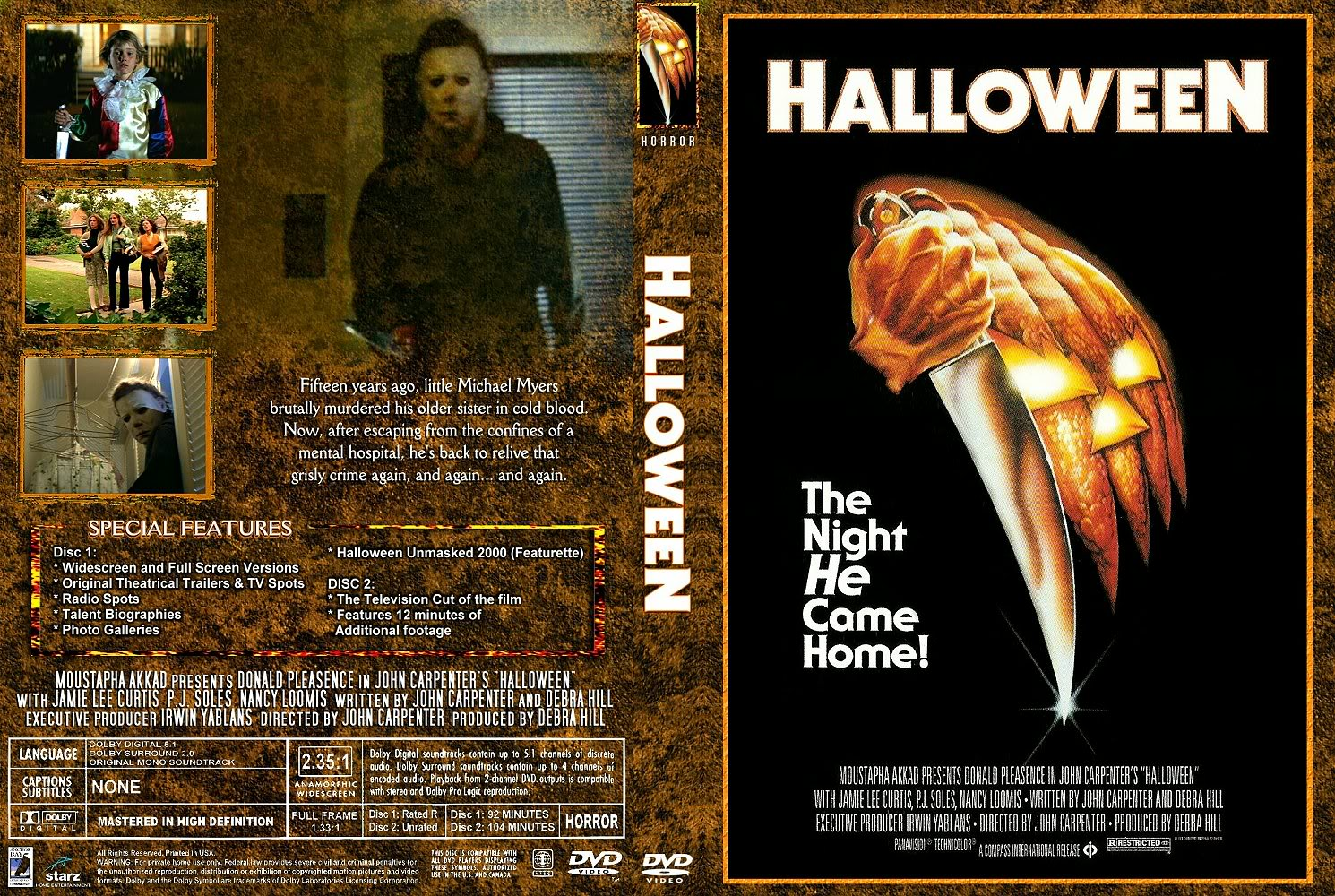 The Horrors Of Halloween: HALLOWEEN (1978) Newspaper Ads, VHS, DVD And Blu-ray Covers
