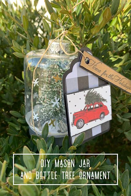 DIY Mason Jar Bottle Tree Ornament