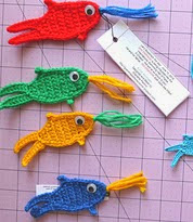 http://www.ravelry.com/patterns/library/fish-applique-bookmark