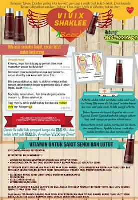 Poster Vivix Untuk Sakit Lutut Dan Sendi