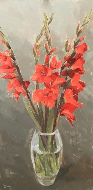 #134 'Gladioli' 12×24″