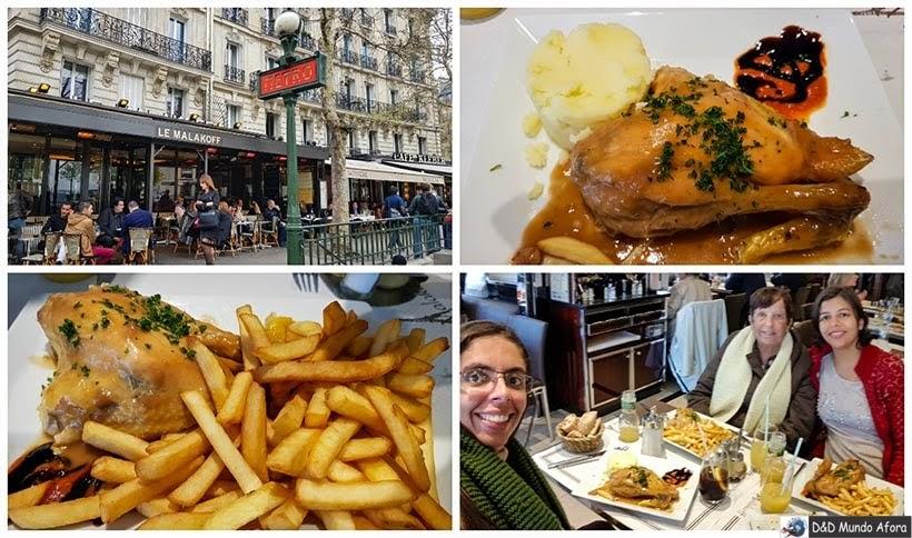 Almoço no Le Malakkof - Diário de Bordo - 3 dias em Paris