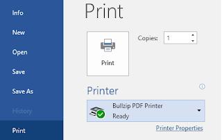 membuat file pdf dengan bullzip pdf printer
