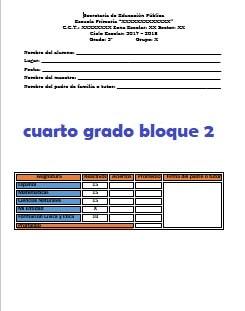 Examenes Cuarto grado primaria 2017-2018
