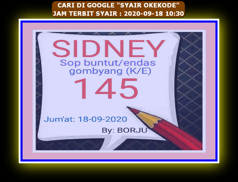Kode syair Hongkong Sabtu 19 September 2020 59