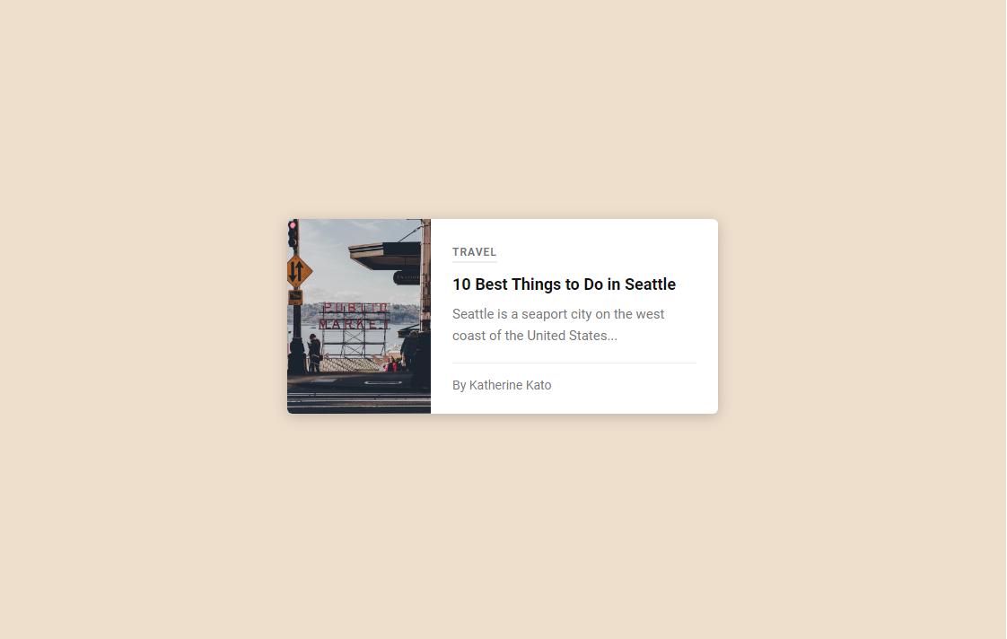 Blog Card - Simple CSS Card Design