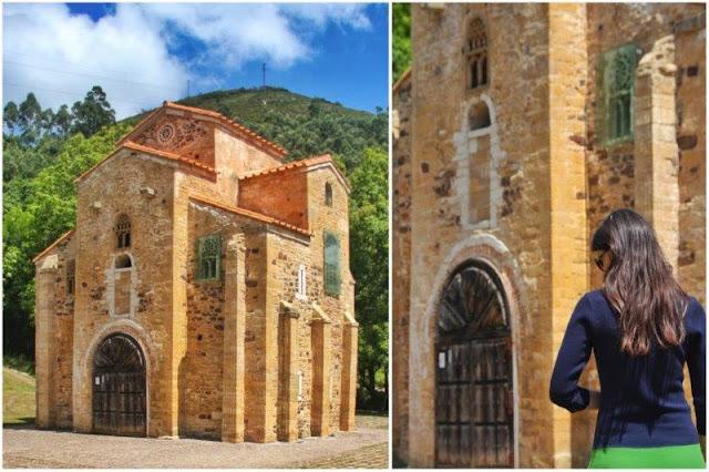 Prerrománico asturiano San Miguel de Lillo en el Monte Naranco en Oviedo