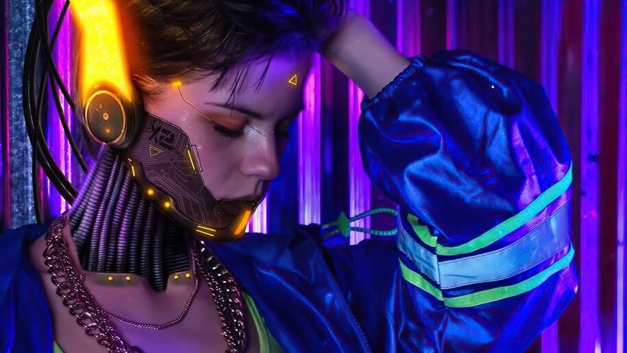 Cyberpunk 2077, Girl, 4K, #7.2450