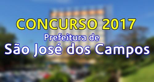 concurso Prefeitura de São José dos Campos SP 2017