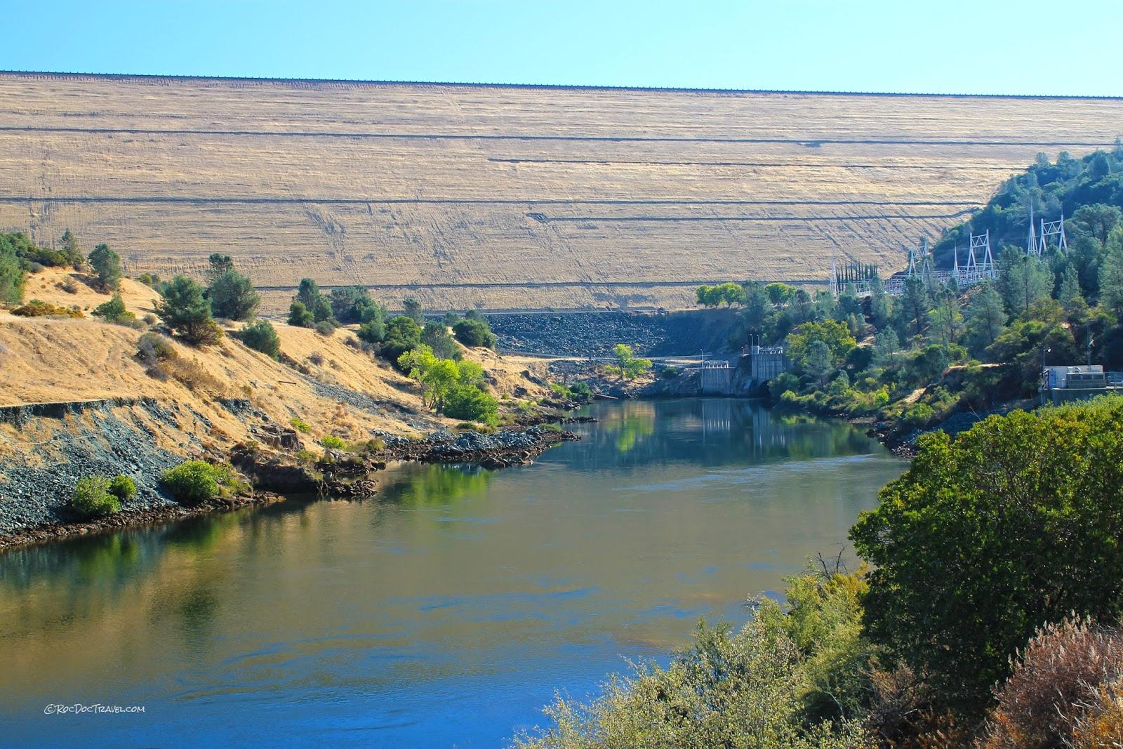 Oroville Dam California geology travel trip roadtrip copyright rocdoctravel.com