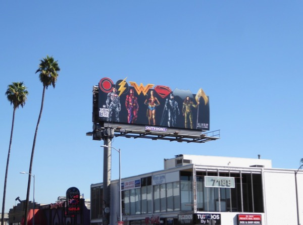 Justice League movie cut-out billboard
