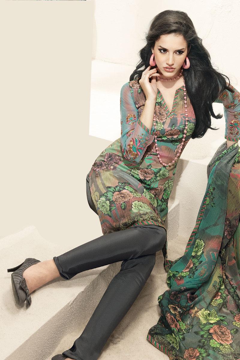 Unstitched Suits - Buy Unstitched Salwar Suit Online at ... |Latest Bollywood Salwar Kameez Designs 2013