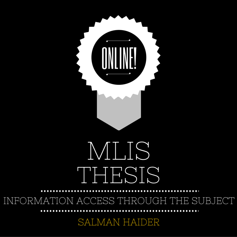 online thesis on library science