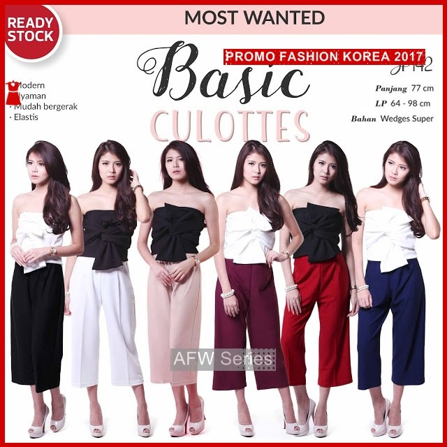 BAMFGW168 Basic Celana Kulot Wanita PROMO BMG