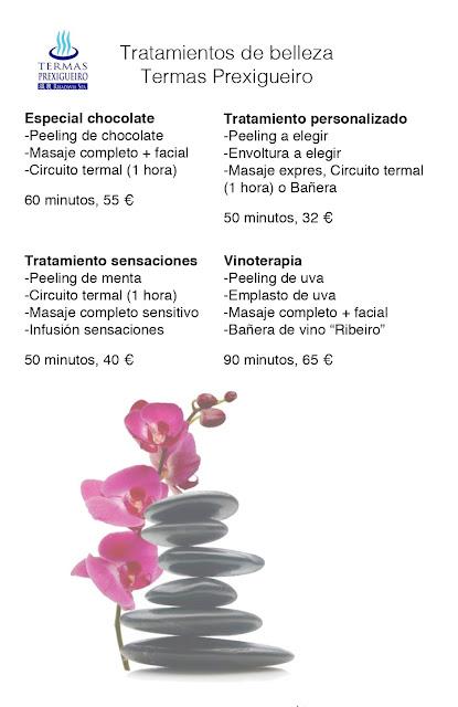 Más tratamientos de belleza en Termas Prexigueiro, Ribadavia Spa, Onsen