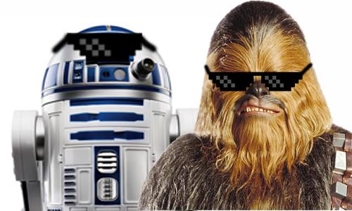 Chewbacca e R2-D2