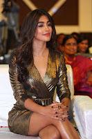 Pooja Hegde looks glamarous in deep neck sleevless short tight golden gown at Duvvada Jagannadham thank you meet function 136.JPG