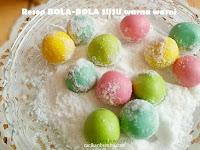 Resep dan cara membuat BOLA-BOLA SUSU warna warni