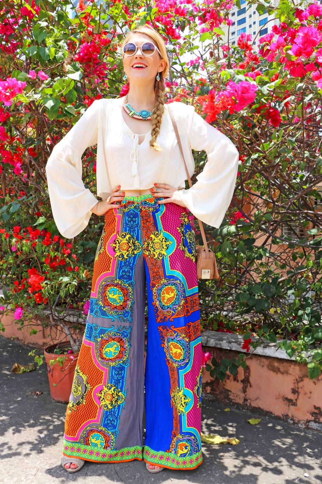 Pretty palazzo pants outfit