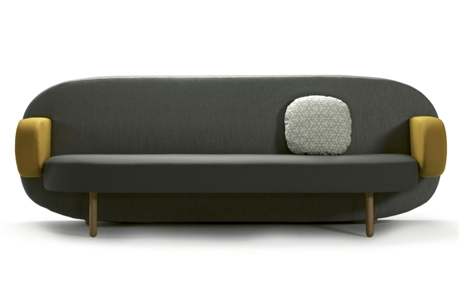 Two Different Sofas In Living Room