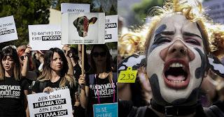 «Εσύ ποιον έφαγες σήμερα;» - Δείτε φωτογραφίες από την πορεία για τα ζώα στην Αθήνα