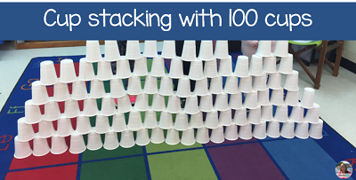 on 100s day use 100 cups and see what you can make.