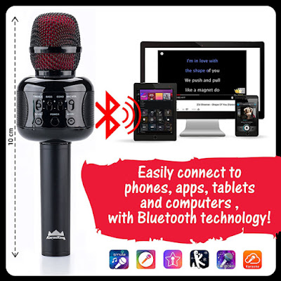 KaraoKing portable wireless karaoke microphone
