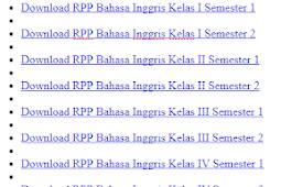 Download Contoh RPP Bahasa Inggris SD/MI K13 Tahun 2018 LENGKAPP