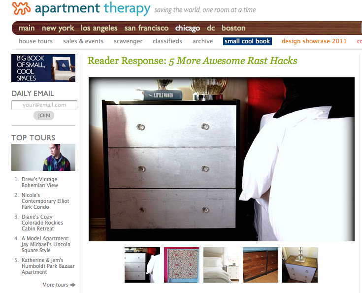 Featured On Apartment Therapy
