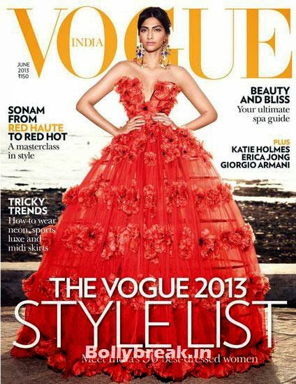 Sonam Kapoor on Vogue cover, The Hottest cover girls of 2013