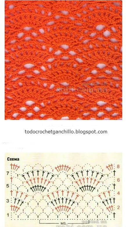 25 Puntos calados para tejer al crochet - patrones gratis | Todo crochet