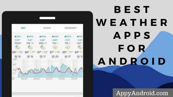 best weather apps for android, free weather forecast apps for android 2018