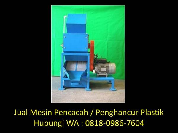 video mesin cacah plastik di bandung