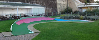 Crazy Golf course at Shanklin Seafront on the Isle of Wight