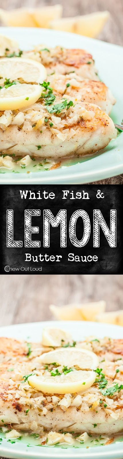 WHITE FISH WITH LEMON BUTTER SAUCE