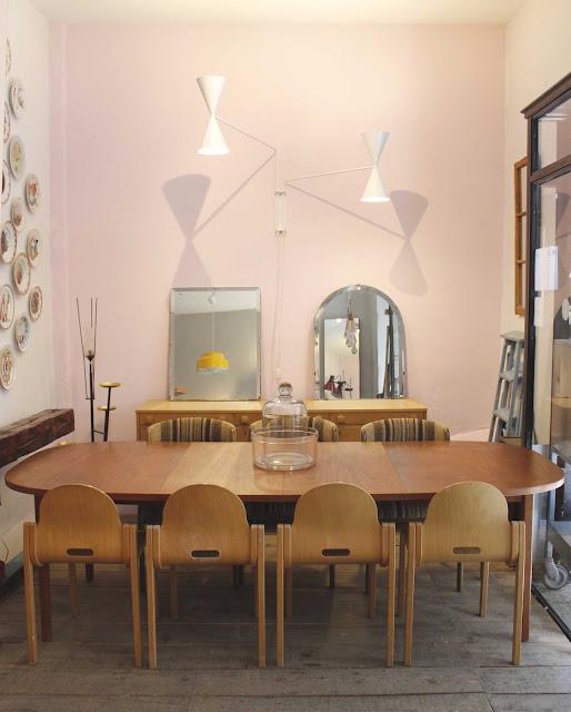 las mejores mesas vintage , antigüedades y lamparas de diseño.