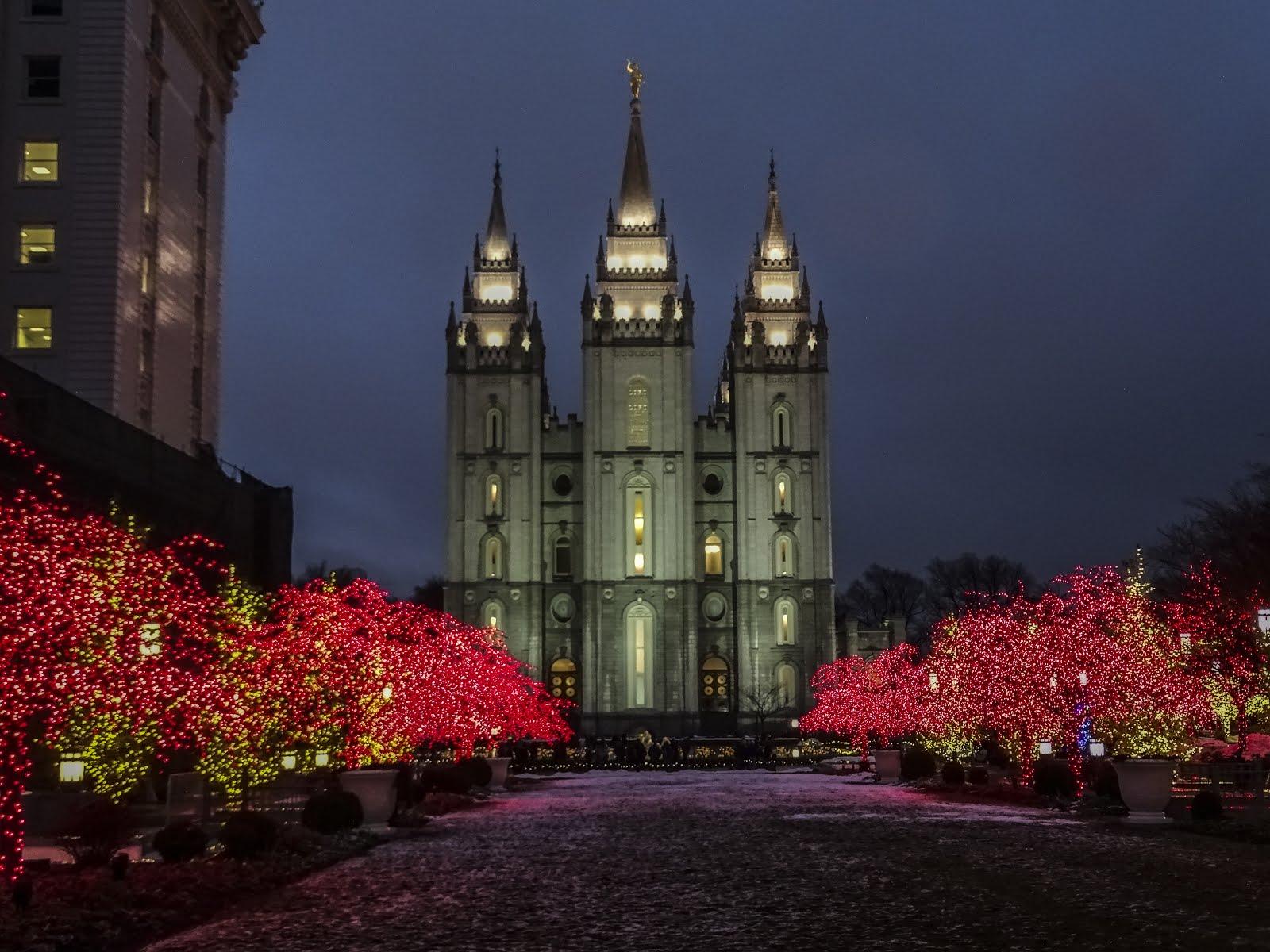 Temple Square Salt Lake City Christmas Lights.Walking Arizona Christmas Lights On Temple Square