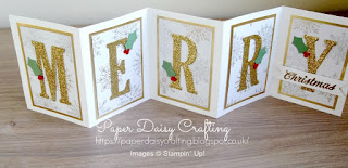 Stampin' Up! Large Letters framelits MERRY card