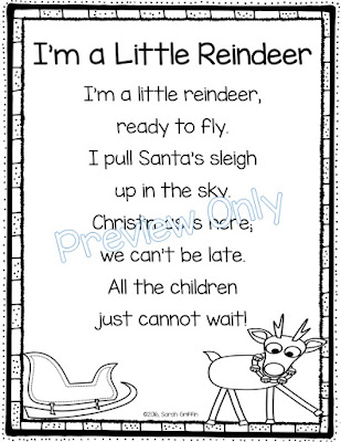 https://www.teacherspayteachers.com/Product/Im-a-Little-Reindeer-Christmas-Poem-for-Kids-2875674