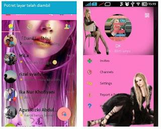 BBM Avril Lavigne Background CUTE PINK V3.0.1.25
